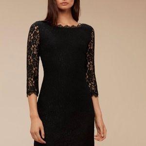 Aritzia Talula Babaton Rafael lace dress black 4
